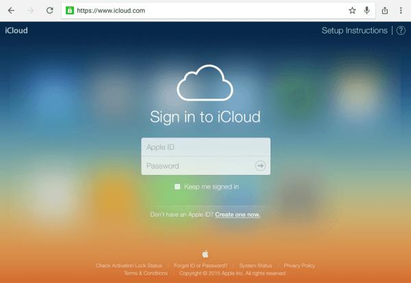 Icloud Web App