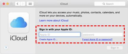 Sign In iCloud