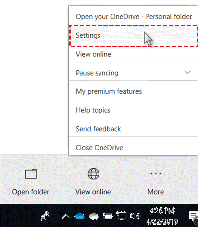 OneDrive Setting