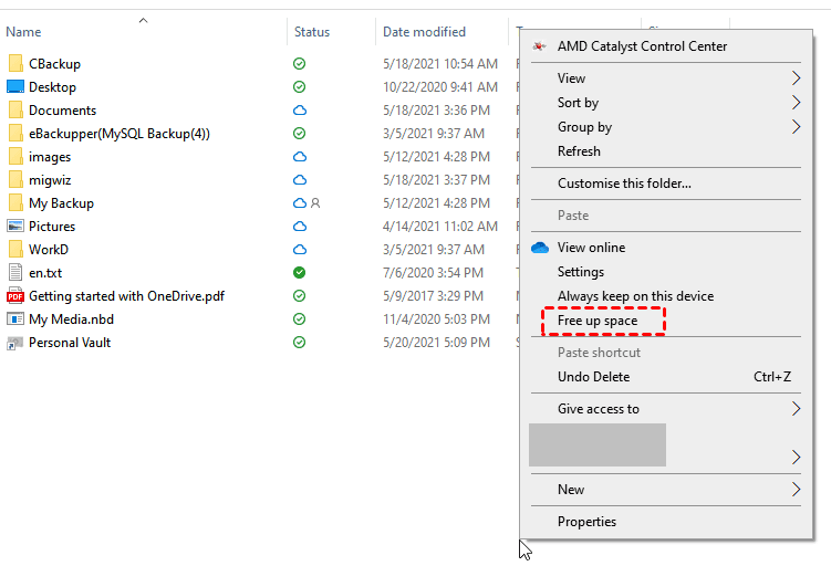 Onedrive Free Up Space