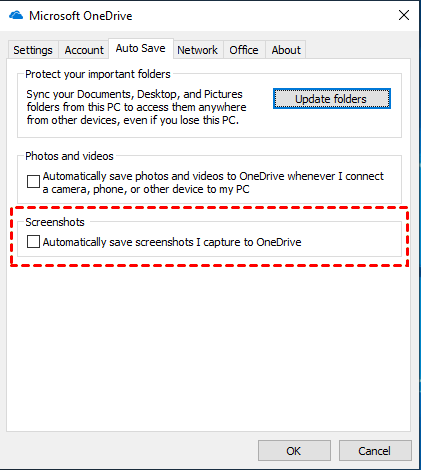 Auto Save Screenshots Onedrive For Business