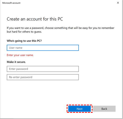 Create Windows Account