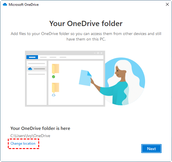 Change Onedrive Folde Location Min