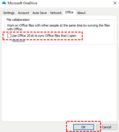 Turn off the OneDrive upload