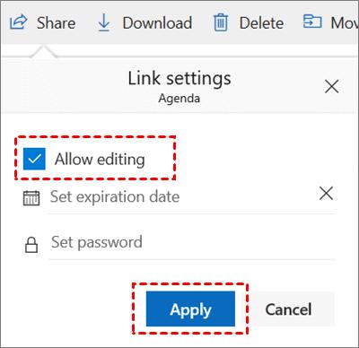 Allow Edit