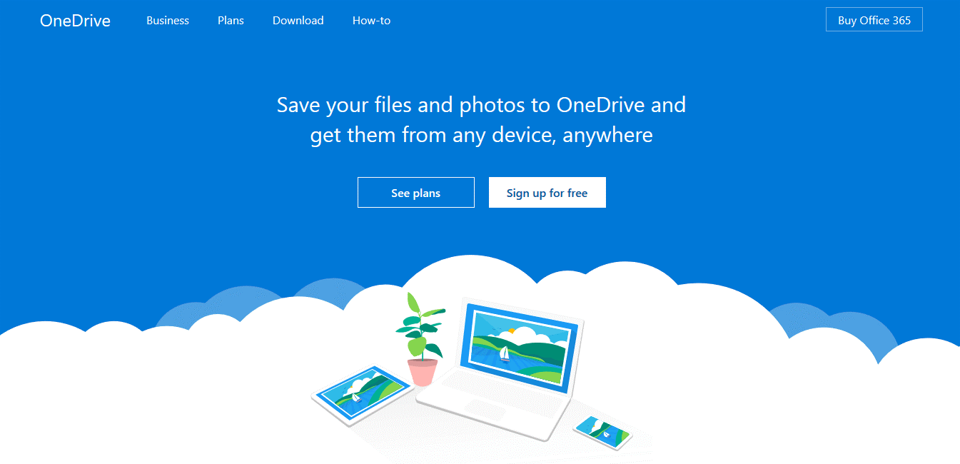 Onedrive Sign Up Page