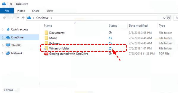 Onedrive Folder Windows