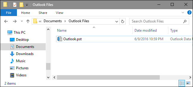 Outlook Files