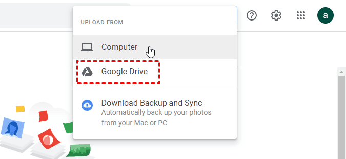 Google Photos Upload From Google Drive