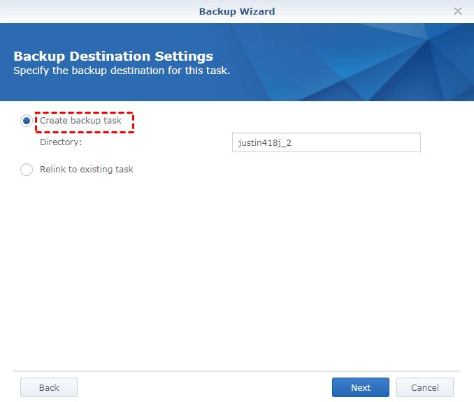 Create Backup Task
