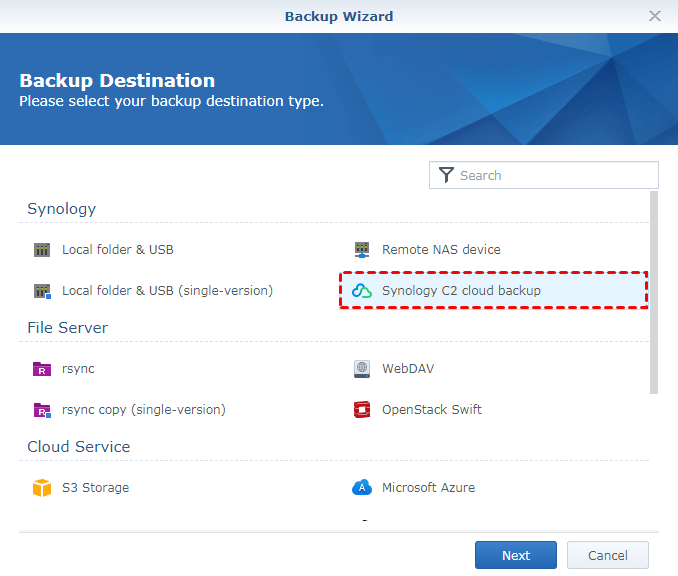 Synology C2 Cloud Backup