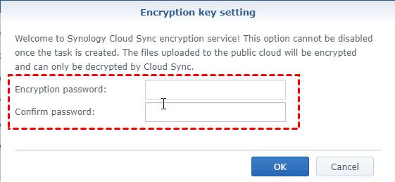 Synology Cloud Sync Encryption