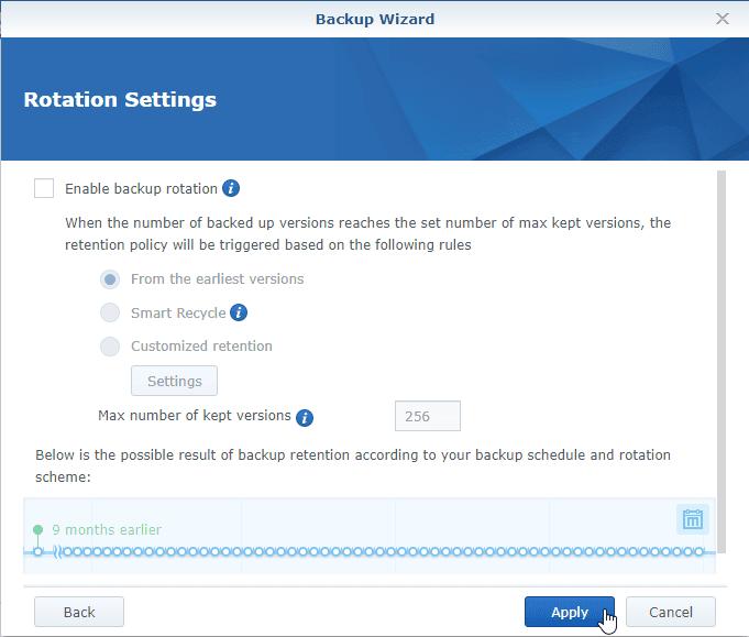 Hyper Backup Apply