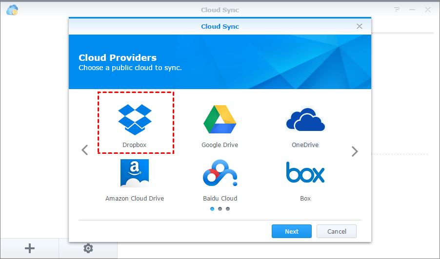 Cloud Sync Dropbox