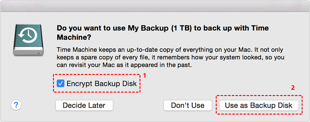 Use As Backup Disk
