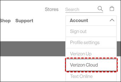 Click Verizon Cloud