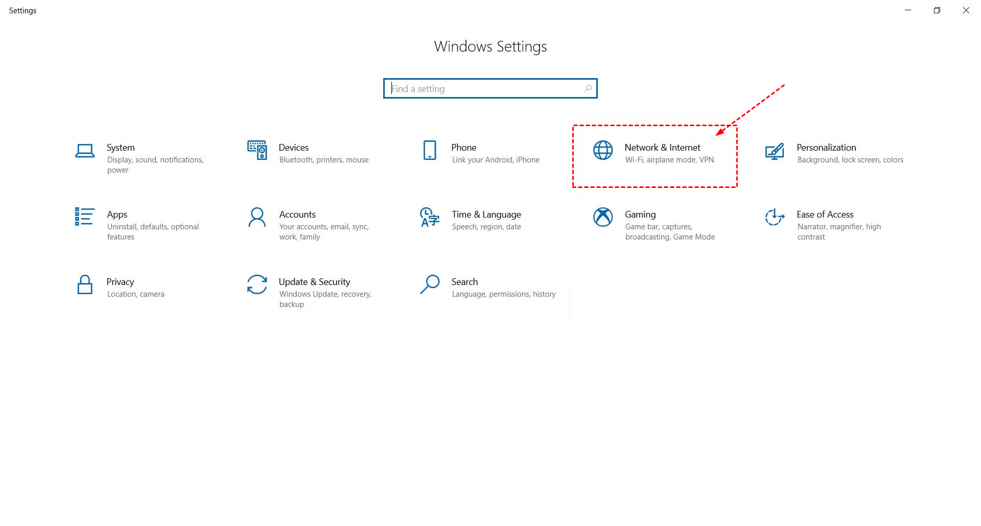 Settings Network And Internet