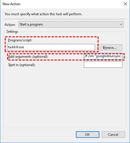 Enter Stop Backup Command