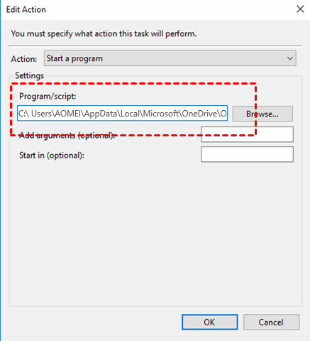 OneDrive Sync Action